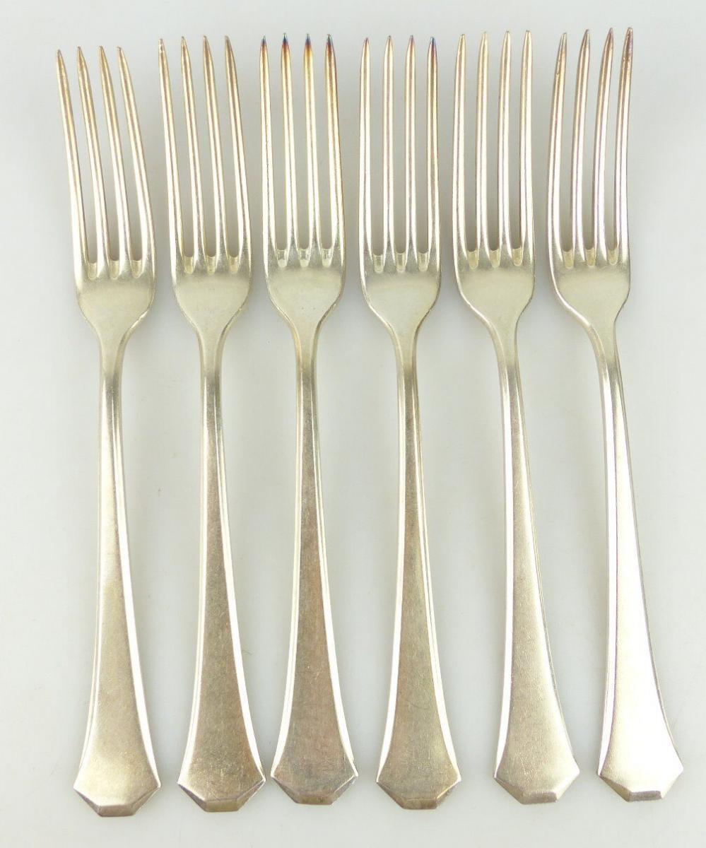 6 original alte WMF Gabeln in 90er Silberauflage e1827