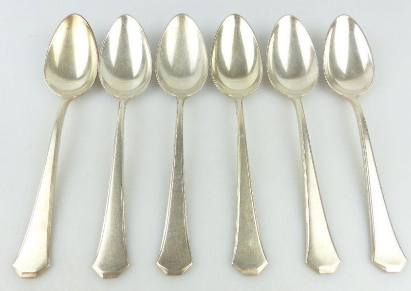 6 original alte WMF Esslöffel /Löffel in 100er Silberauflage e1819