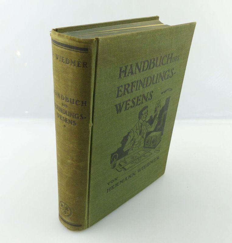 Buch: Handbuch des Erfindungswesens von Hermann Wiedmer e964