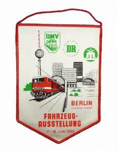#e6058 DDR Wimpel Fahrzeugausstellung 1985 Berlin 40 Jahre Eisenbahn Reichsbahn