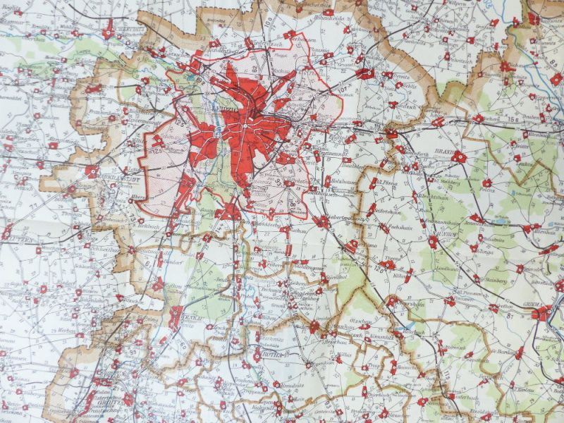 Mittelbach Karte: Entfernungskarte Blatt 1 Leipzig Sachsen e941 5