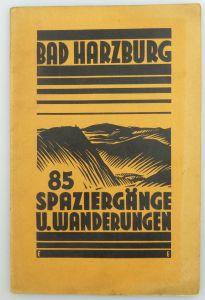 Karte: Bad Harzburg Niedersachsen 85 Spaziergänge und Wanderungen 1932 e935