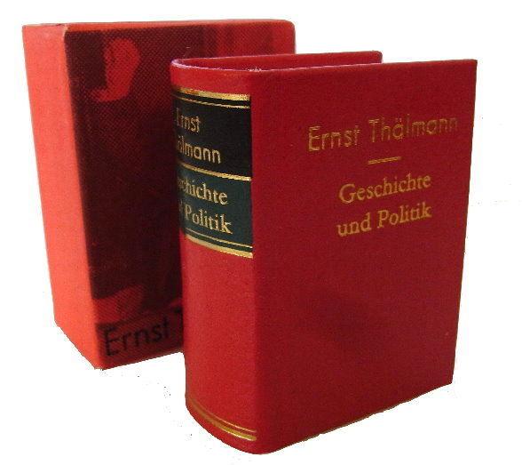 Minibuch: Ernst Thälmann Geschichte und Politik bu0020