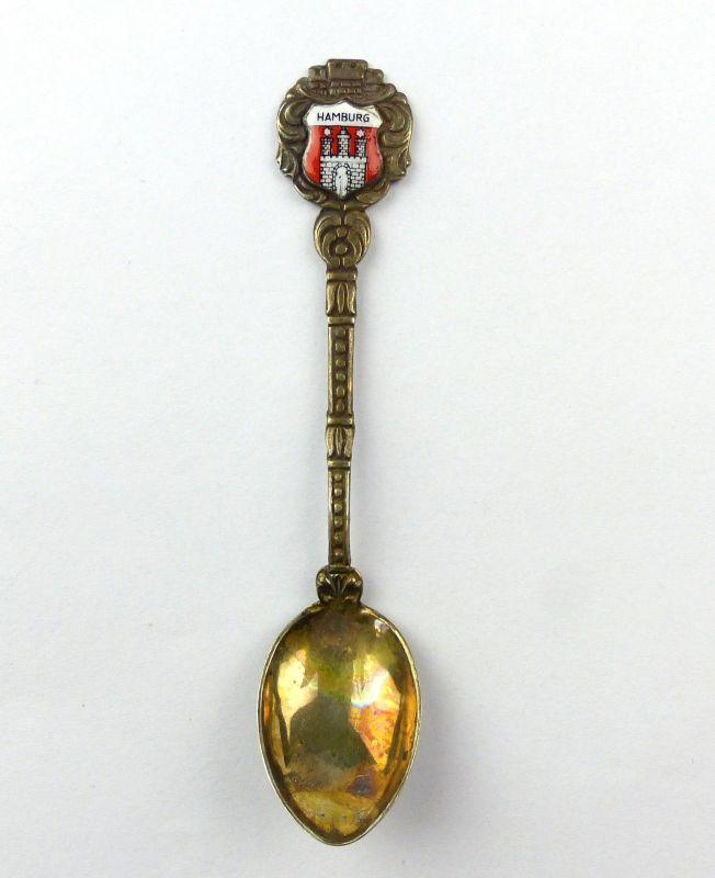 E10037 Andenkenlöffel Sammlerlöffel aus 800 Silber mit Wappen Hamburg