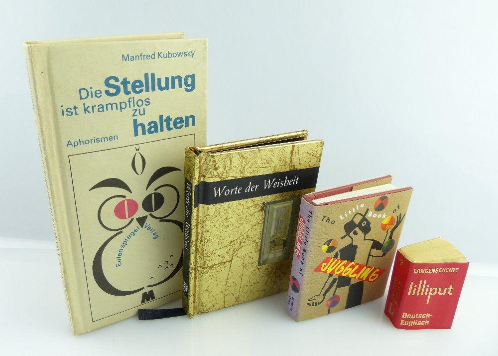 4 Minibücher: Stellung ist krampflos zu halten, Juggling, Langenscheidt...e388
