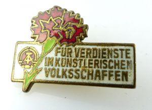 Abzeichen: für Verdienste im künstlerischen Volksschaffen DDR e1126