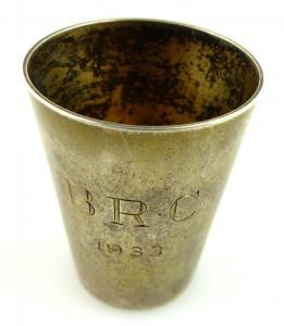 Original alter Schnapsbecher /Wodkabecher aus 835(Ag) Silber e1197