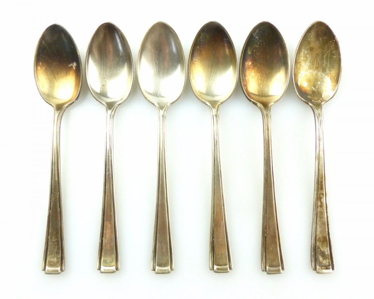 #e6080 6 wunderschöne Mokkalöffel aus 800 (Ag) Silber Görlitzer Silberwaren SGS