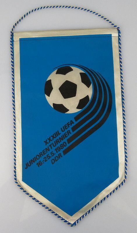 Wimpel: XXXIII. UEFA Juniorenturnier 16.-25.5.1980 DDR, Orden2166
