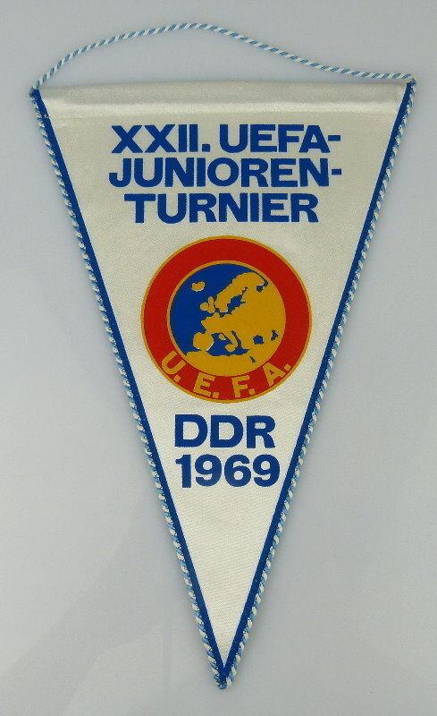 Wimpel: XXII. UEFA Juniorenturnier DDR 1969 U.E.F.A., Orden2164