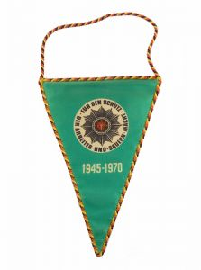 #e6063 Original alter DDR Wimpel 25 Jahre Deutsche Volkspolizei 1945-1970