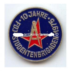 DDR Abzeichen für den Einsatz in FDJ-Studentenbrigaden 1975