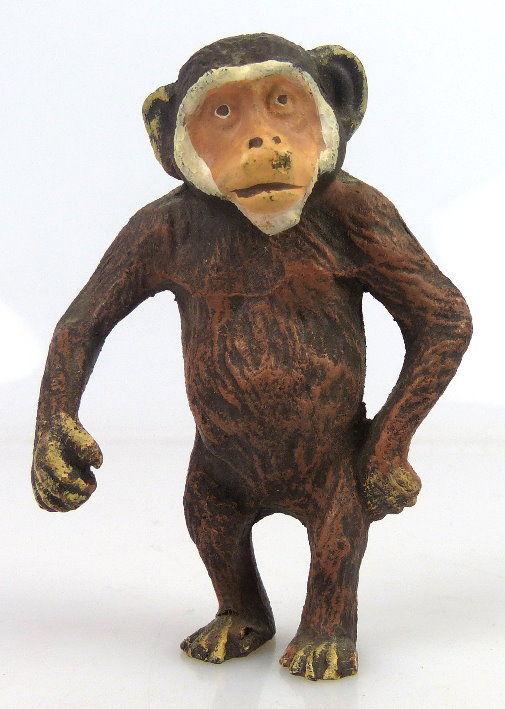 Altes Masse wohl Elastolin Tier: seltener Schimpanse linol030