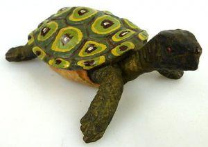 Altes Masse wohl Elastolin Tier dekorative Schildkröte