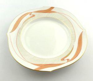 #e4237 Meissen Porzellan Teller / Wellenspiel mit Wasservögeln 1. Wahl