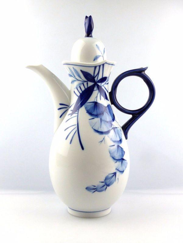 #e5253 Meissen Kaffeekanne 1. Wahl Robinie Kobaltblau Sonderedition 2000 0