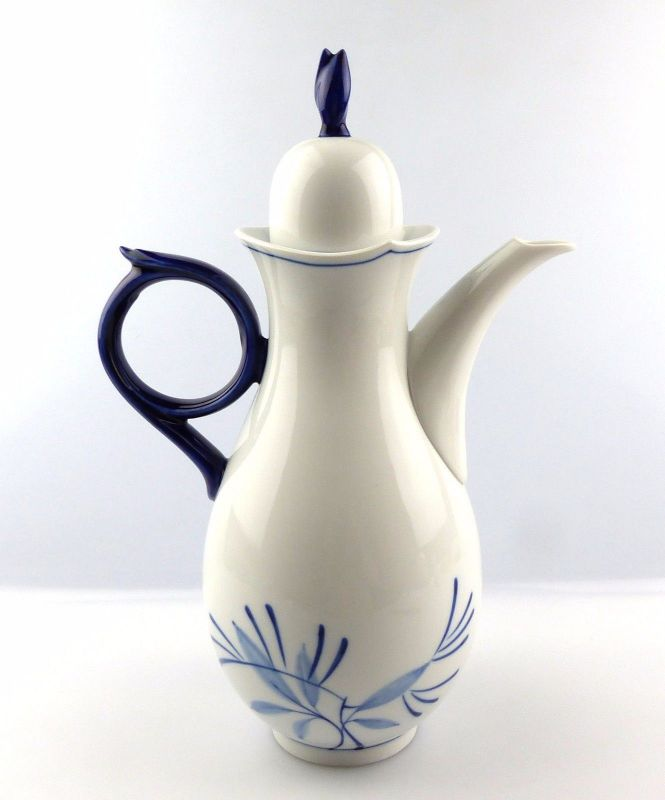 #e5253 Meissen Kaffeekanne 1. Wahl Robinie Kobaltblau Sonderedition 2000 1
