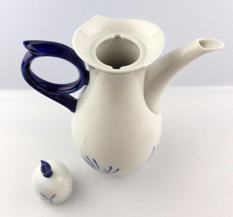 #e5253 Meissen Kaffeekanne 1. Wahl Robinie Kobaltblau Sonderedition 2000 2