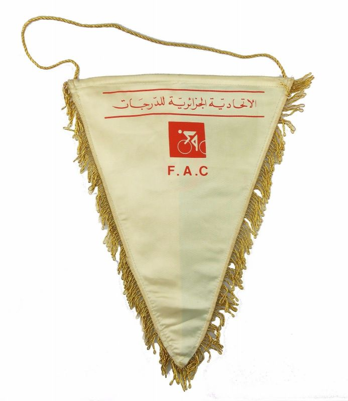 #e6359 Original alter Wimpel F.A.C. Radsport Algerien