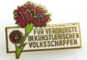 DDR Abzeichen: Für die Verdienste im künstlerischen Volksschaffen e1060
