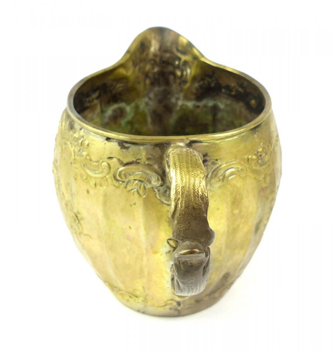 E10191 Sehr dekoratives Sahnekännchen aus 800er Silber Halbmond und Krone 2