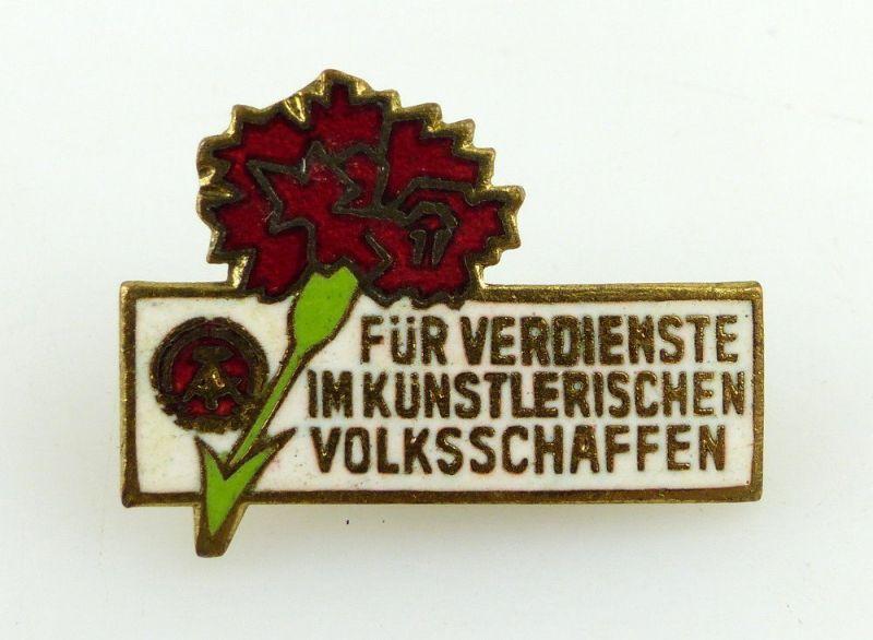 DDR Abzeichen: Für die Verdienste im künstlerischen Volksschaffen e1059 0
