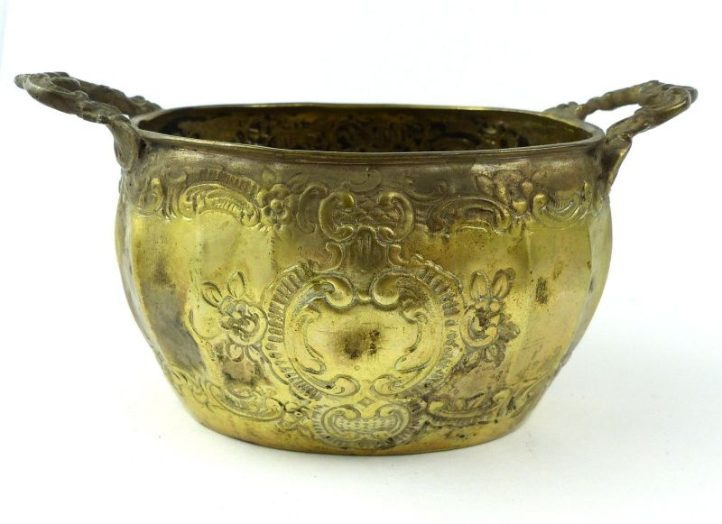 E10190 Sehr dekorative Zuckerschale aus 800er Silber Halbmond und Krone