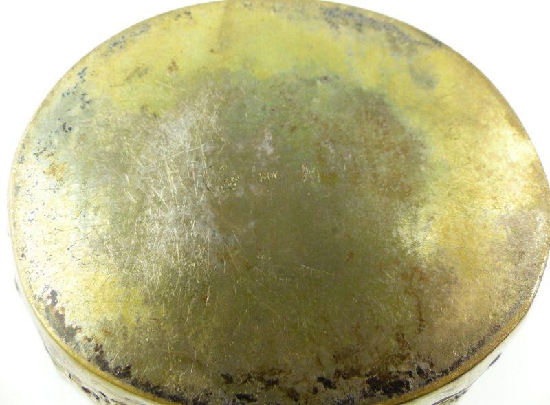 E10190 Sehr dekorative Zuckerschale aus 800er Silber Halbmond und Krone 7