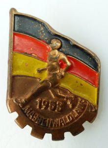 Abzeichen: 1953 Massenwaldlauf, bronzefarben, Orden1013