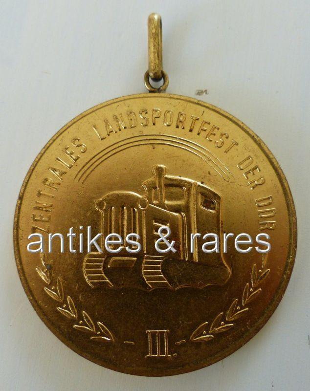 Medaille III. Zentrales Landsportfest der DDR DTSB 1960 goldfarben