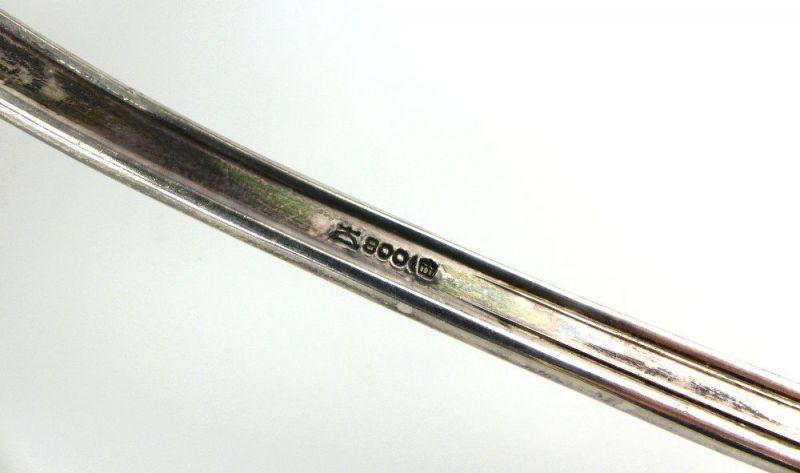 #e2716 Alte Schöpfkelle /Suppenkelle aus 800er Silber Halbmond & Krone Dt. 5