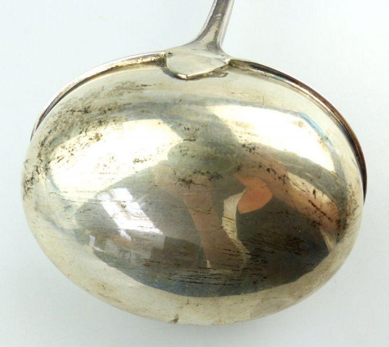 #e2716 Alte Schöpfkelle /Suppenkelle aus 800er Silber Halbmond & Krone Dt. 6