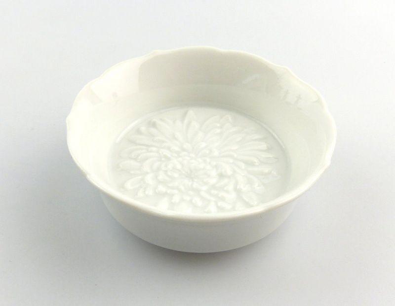 #e4856 Meissen Porzellan Salznäpfchen / Gewürzschälchen 1. Wahl Chrysantheme
