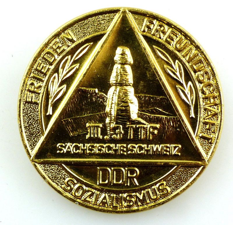 #e5779 Abzeichen: III.  JTTF Sächsische Schweiz DDR Sozialismus Frieden