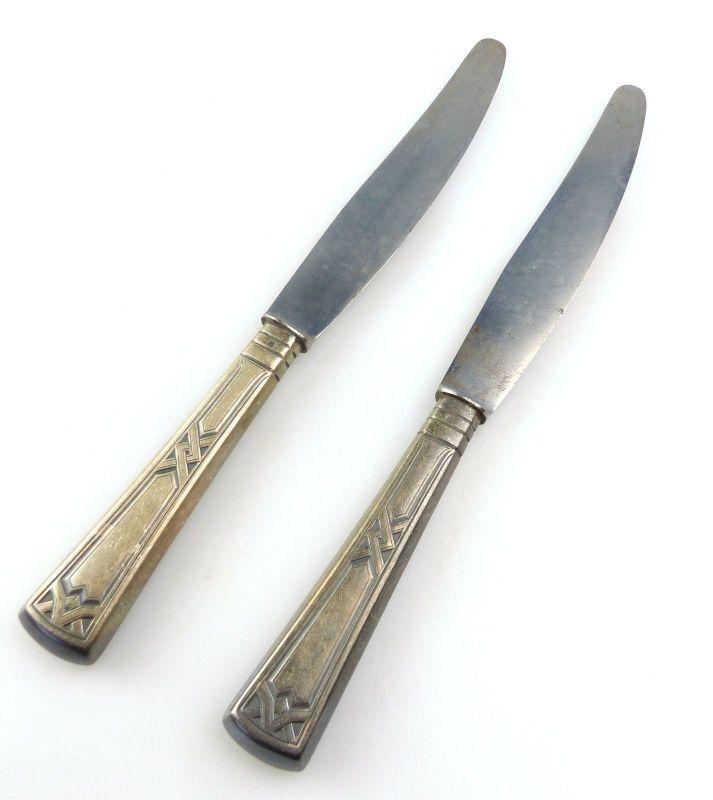 E10353 2 Jugendstil Messer mit versilberten Griffen 40er Silberauflage Ideal