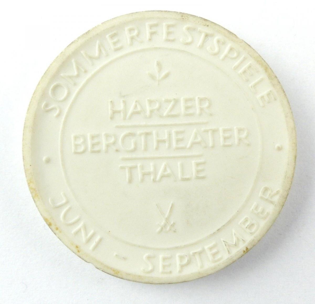 E10320 Meissen Medaille Sommerfestspiele Harzer Bergtheater Thale 1