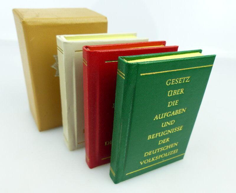 Minibuch: DDR 3er Kassette Gesetze über... bu0920