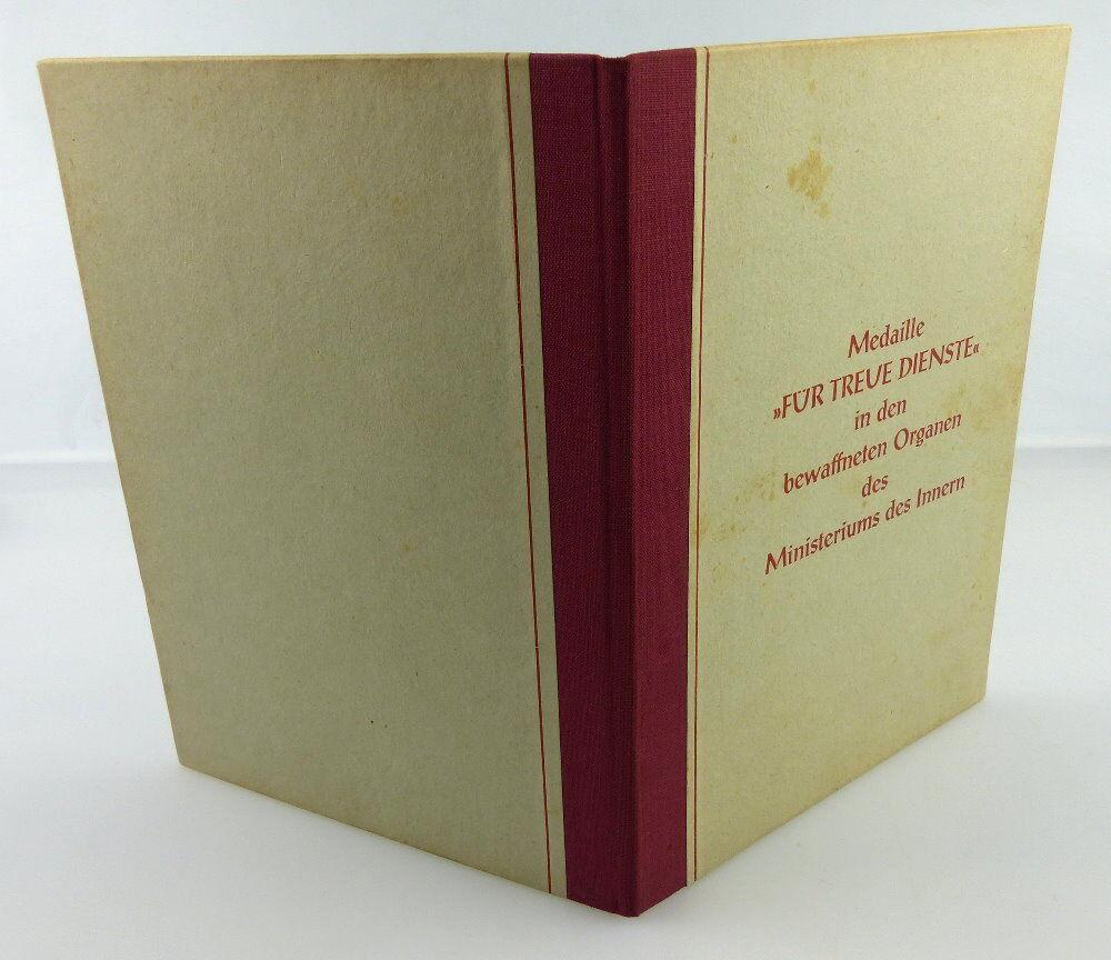 Urkunde: Medaille Treue Dienste in den bewaffneten Organen MdI 1962, Orden2794 2