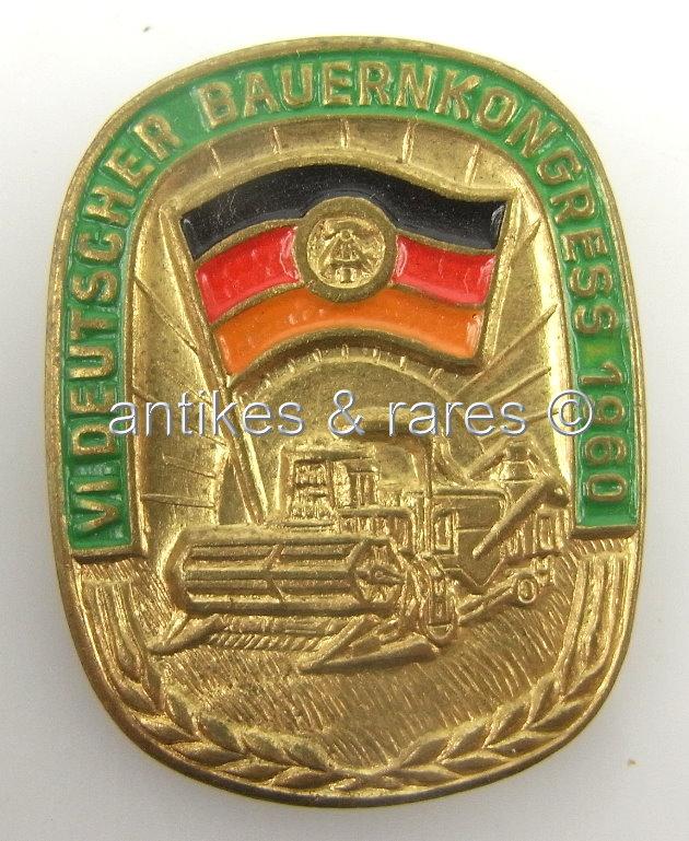 DDR Abzeichen VI. Deutscher Bauerntag Güstrow 1957