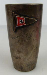 Alter Becher in 800 (Ag) Silber 86g, Berliner Regatta Verein 1930, norb818