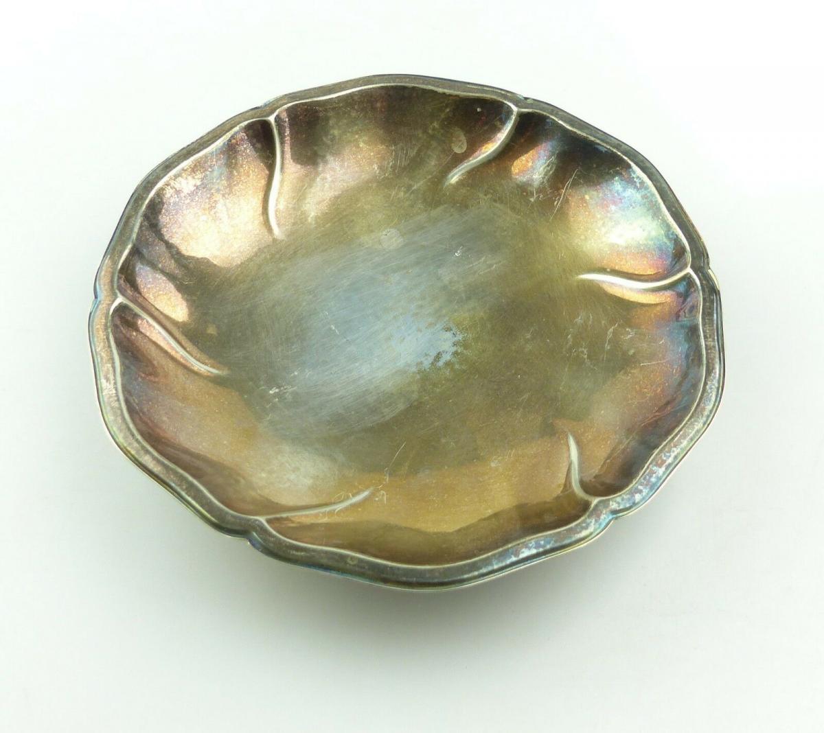 E10389 Alte Anbietschale kleine Schale aus 835er Silber WTB Wilhelm Binder