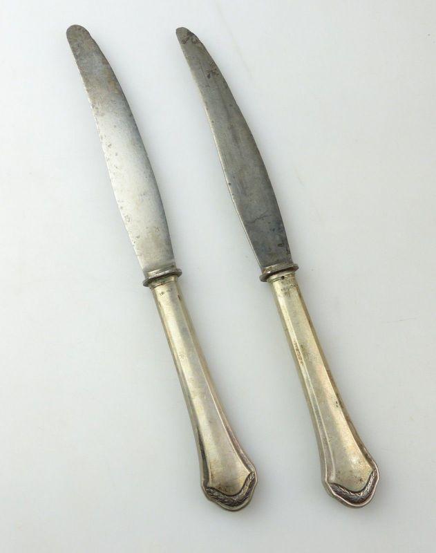 E10375 2 Messer mit Griffen aus 800er Silber