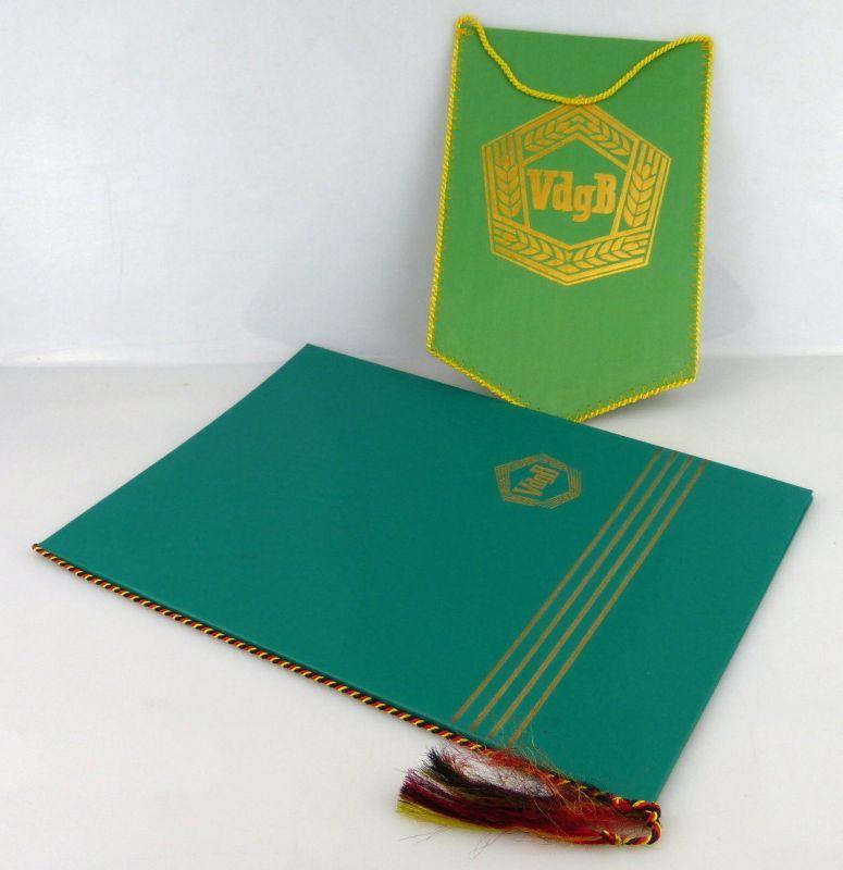 Urkundenmappe + Wimpel: VdgB Vereinigung gegenseitigen Bürgerhilfe, Orden2444
