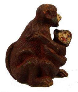 Altes Masse Lineol Tier Affe mit Kind