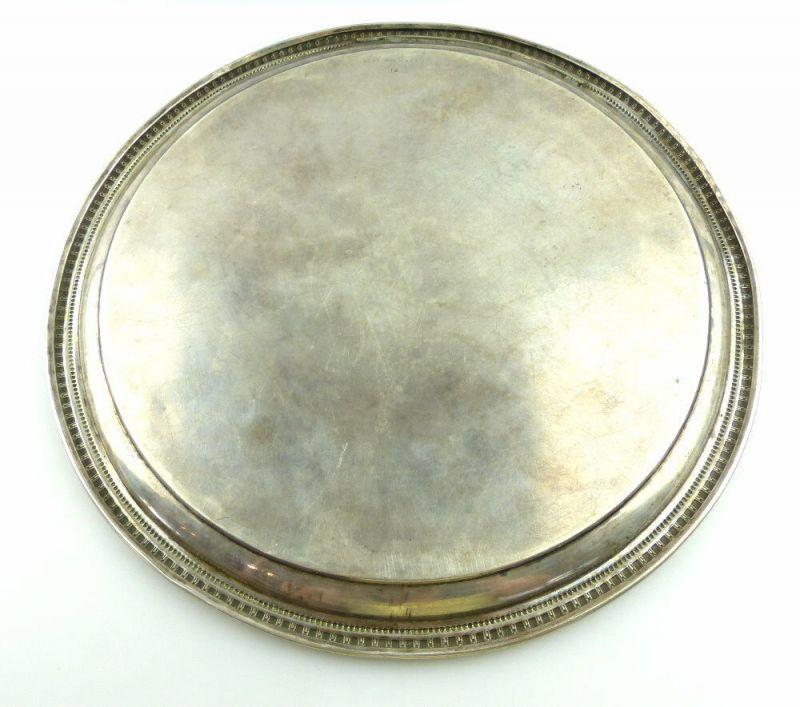 Dekoratives Gründerzeit Tablett Wagner & Sohn in 800 (Ag) Silber, e1309 3
