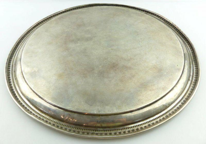 Dekoratives Gründerzeit Tablett Wagner & Sohn in 800 (Ag) Silber, e1309 4