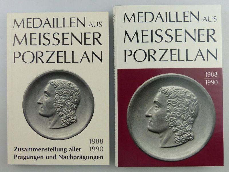 2 Bücher: Medaillen aus Meissner Porzellan 1988-1990 & Zusammenstellung Buch2568