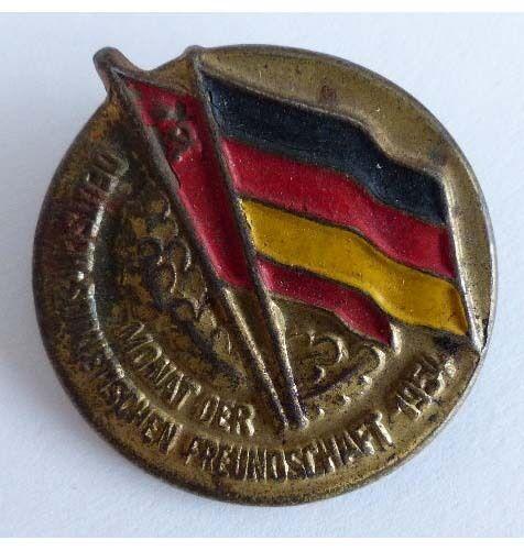 Abzeichen Monat der Deutsch Sowjetischen Freundschaft 1954