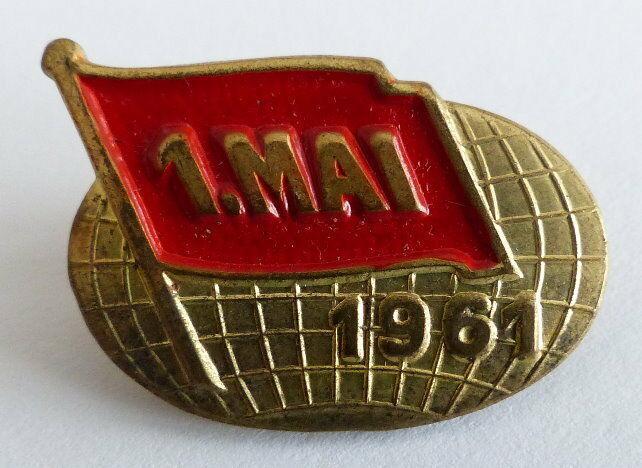 Abzeichen 1 Mai 1961 Pin Anstecknadel DDR