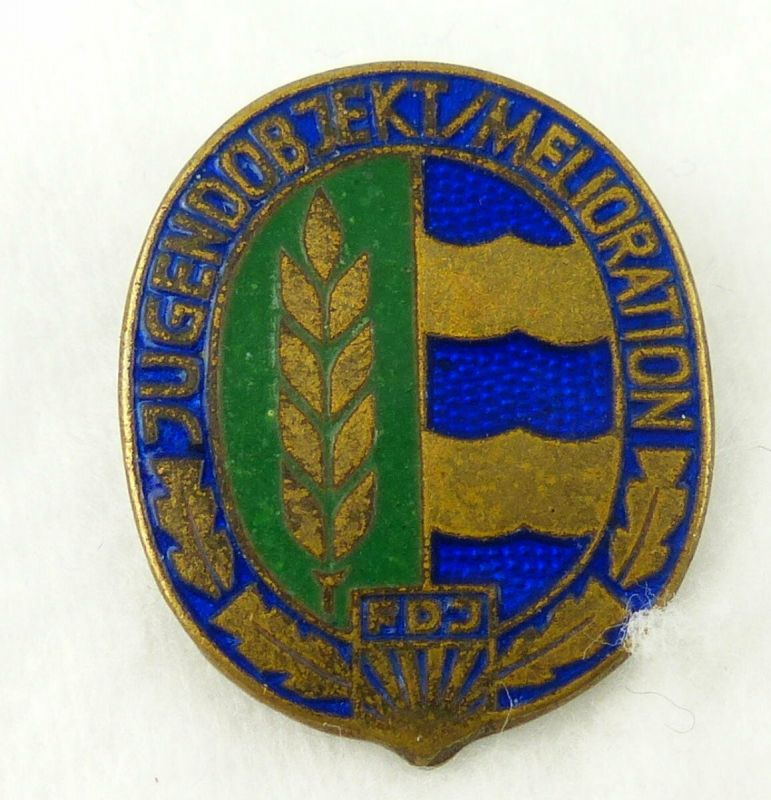 Abzeichen Jugendobjekt Melioration FDJ vgl Band V Nr 735  r511